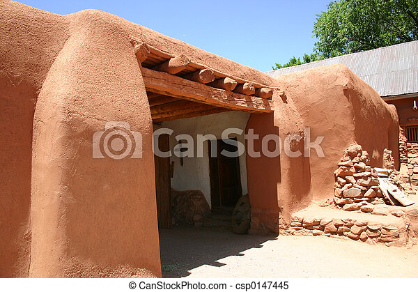 Stock images of hacienda detail detail of adobe hacienda for Adobe hacienda house plans