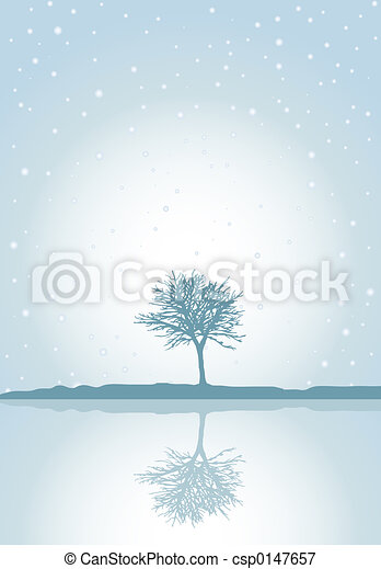Winter reflections - csp0147657