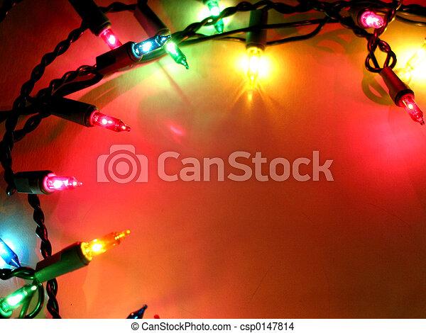 Christmas lights frame 1 - csp0147814