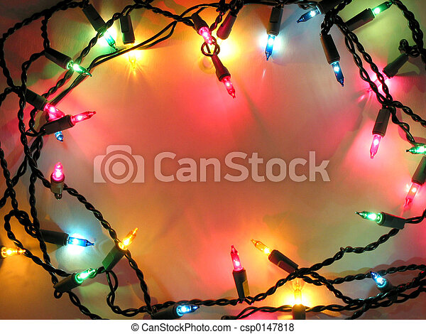 Christmas lights frame - csp0147818