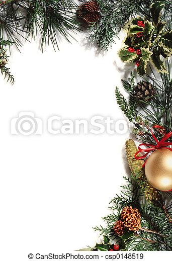 ornamento, navidad - csp0148519