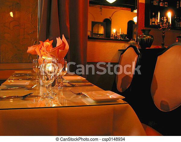 Dinner table setting - csp0148934