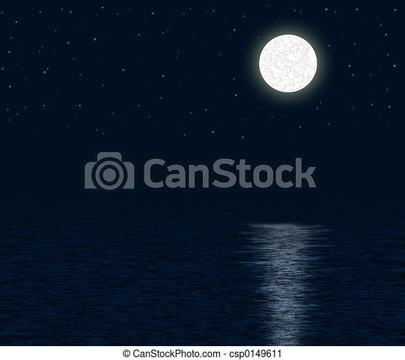 Moonlit Ocean - csp0149611