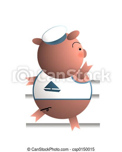 Pig (Gone sailing) - csp0150015