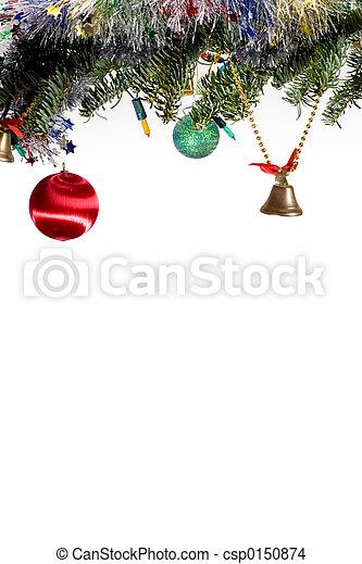 Stock de fotos adornado navidad rbol rama blanco - Arbol de navidad adornado ...