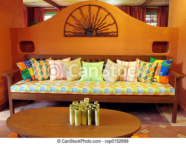Stock photographs of living room mexican inspired living for Mexican inspired living room ideas