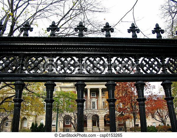 Wrought iron fence - csp0153265