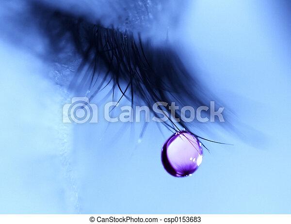 lágrima, gota, melancolía - csp0153683