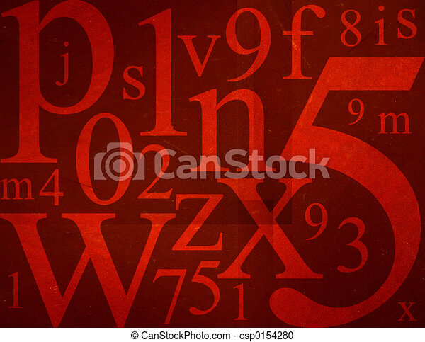 Letters and Numbers Mix - csp0154280