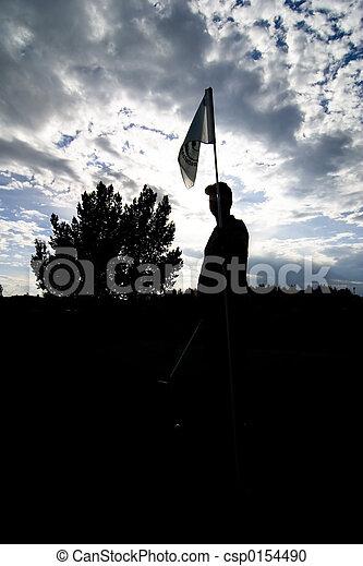 Golf Silhouette - csp0154490