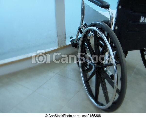 輪子, 椅子, 緊急事件 - csp0155388
