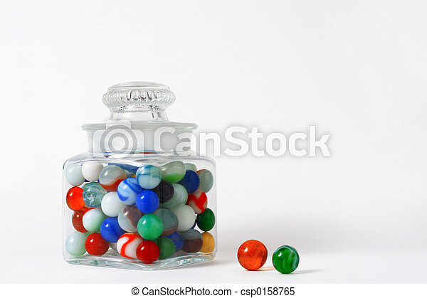 Jar of marbles - csp0158765