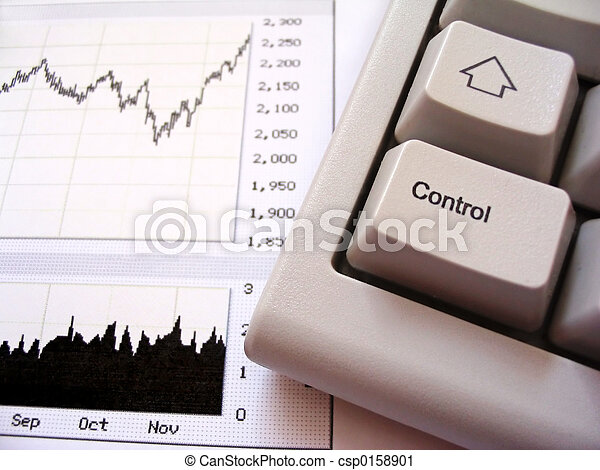 Stock chart and keyboard - csp0158901