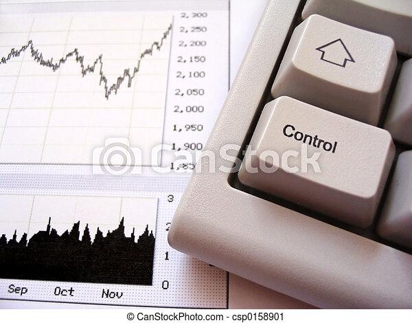 Stock chart and keyboard - csp0158901