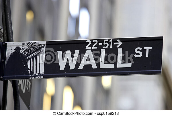 Wall street sign - csp0159213