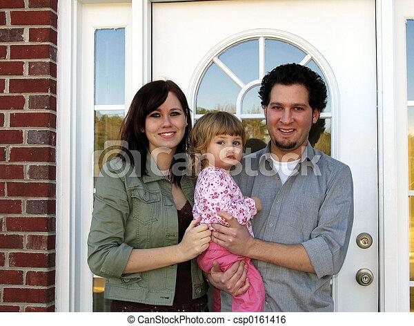 färsk, familj, Hem - csp0161416