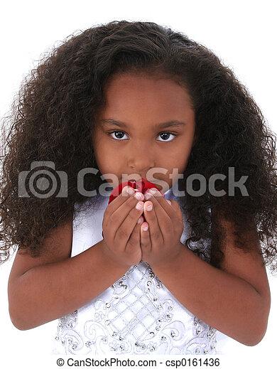 Child Girl Flowers - csp0161436