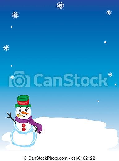 Winter Snowman background - csp0162122