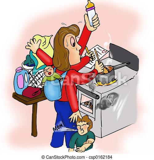 Stressed mom - csp0162184