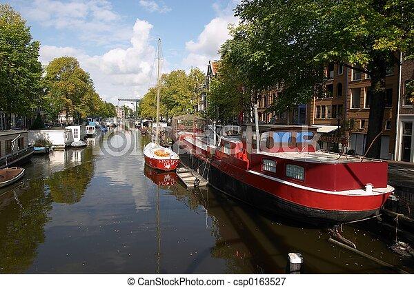 Amsterdam Canal - csp0163527