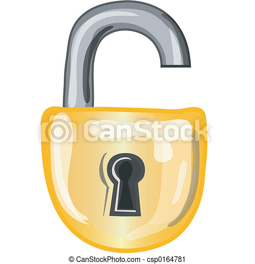 Open Lock Icon Open Lock Icon Stylized Open