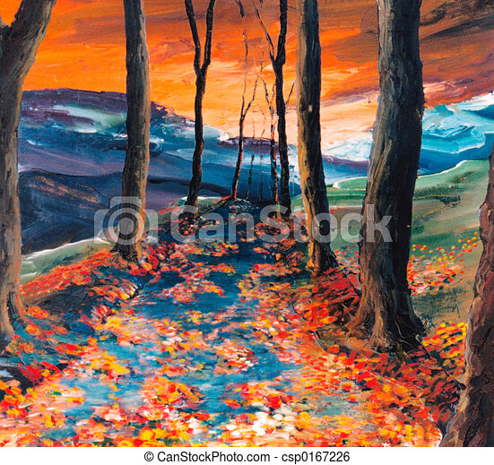 Autumnal road - csp0167226