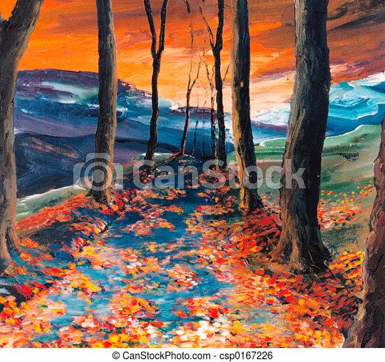 Autumnal road - csp0167226