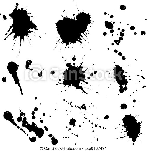 Ink splats - csp0167491