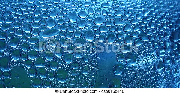 Blue sparkling drops