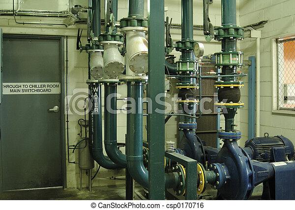 image de eau climatiseur pompes et canaux transmission de une csp0170716 recherchez. Black Bedroom Furniture Sets. Home Design Ideas