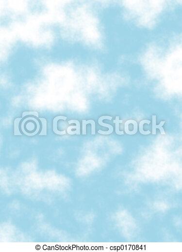 Puffy clouds - csp0170841