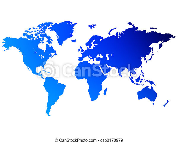 A map of the world - csp0170979