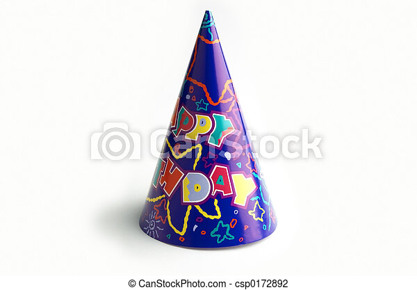 isolated birthday cap - csp0172892