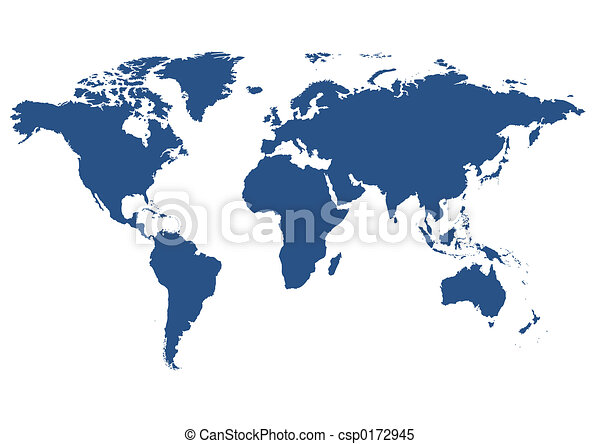 isolated world map - csp0172945