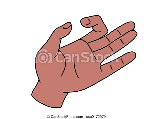 Stock Illustration of white hand holding something ...