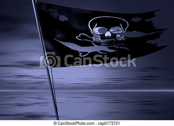 pirate flag - csp0173721