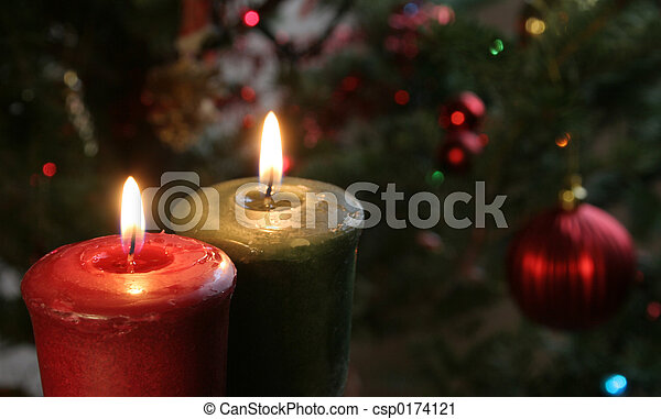 Christmas Candles - csp0174121