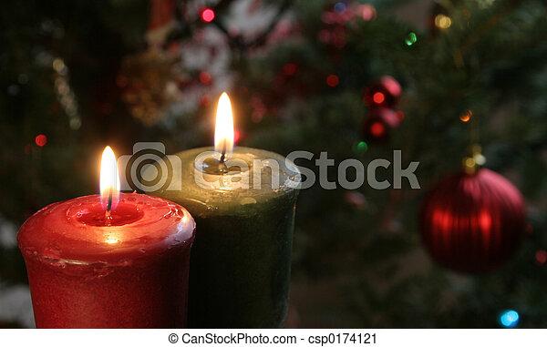 Christmas Candles - csp0174121
