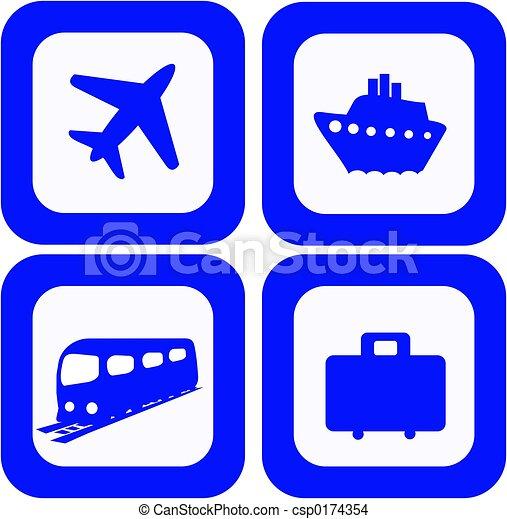 Travel icons set - csp0174354