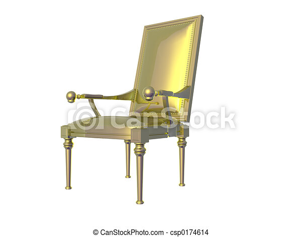 Golden Chair - csp0174614