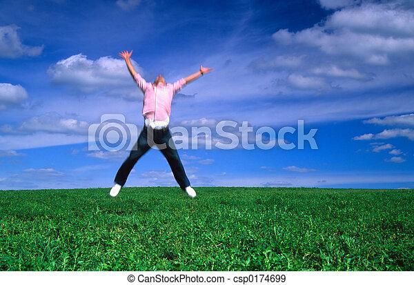 Jumping with Joy - csp0174699