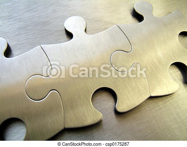 acciaio, jigsaw - csp0175287