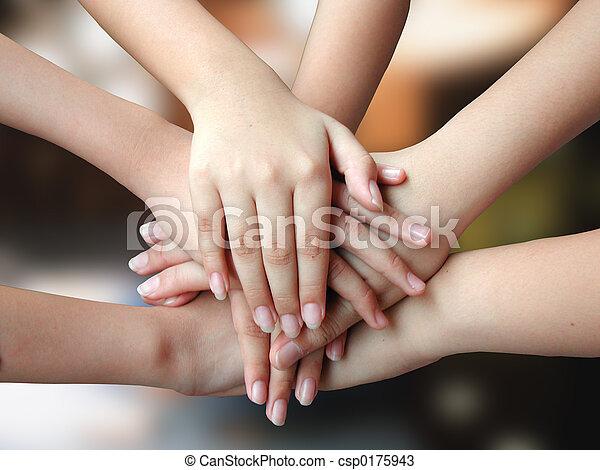 Viele,  4success, Hände - csp0175943