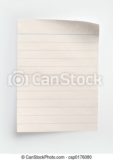 Lined Notebook Paper - csp0176080
