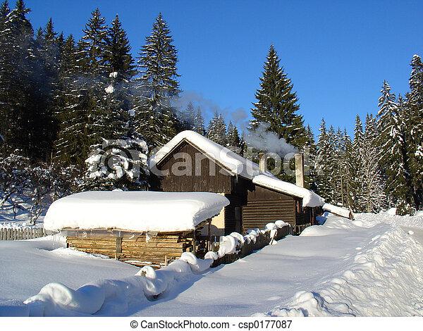 Hut In The Winter - csp0177087