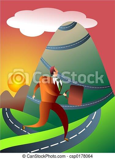 mountainous journey - csp0178064