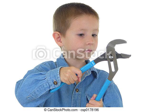 男孩, 工具 - csp0178196