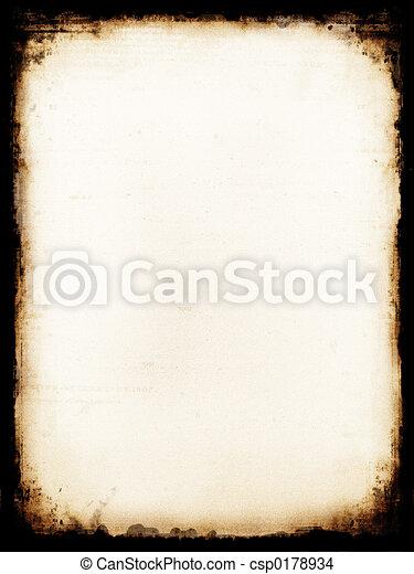 Burned paper - csp0178934
