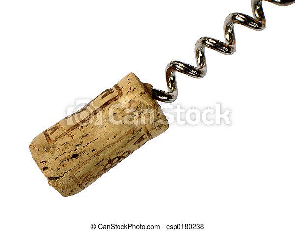 Cork and corkscrew - csp0180238
