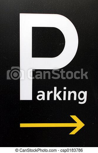 駐車, 印 - csp0183786